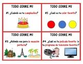 """""""Todo Sobre Mi"""" Taskcards/Scoot"""
