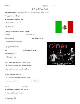 """Todo cambió"" by Camila with Preterite vs. Imperfect!"