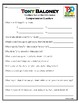 """""""Tony Baloney"""" The Macaroni Penguin Activities for Guided Reading & Writing"""