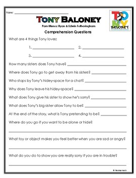 """Tony Baloney"" The Macaroni Penguin Activities for Guided Reading & Writing"