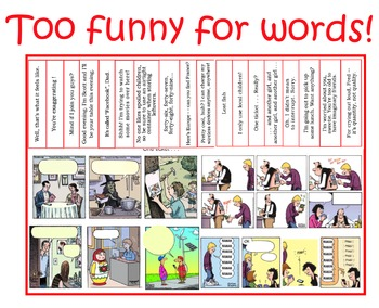 TOO FUNNY FOR WORDS encourages students to read in context.