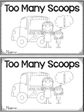 """""""Too Many Scoops"""" A June/Summer Emergent Reader and Response Dollar Deal"""