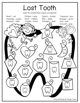 """""""Tooth Fairy & My Lost Tooth"""" Literacy, Math & Craftivity"""