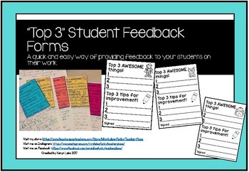 """Top 3"" Student Feedback Form"