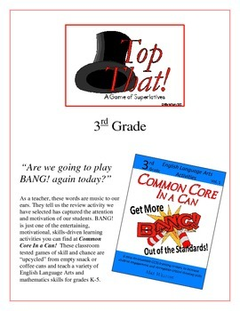 """Top That!"" Comparatives & Superlatives 3rd Grade Common Core Game Packet"