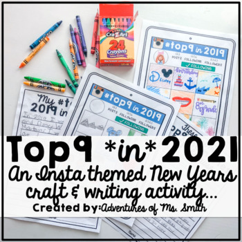 #Top9 in 2017 Craft & Writing Activity