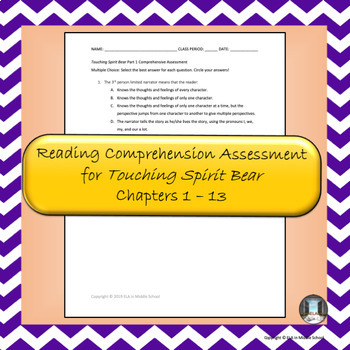 """Touching Spirit Bear""  Part 1 Reading Comprehension Assessment"