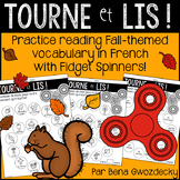 {Tourne et Lis! L'automne} Practice reading in French with Fidget Spinners