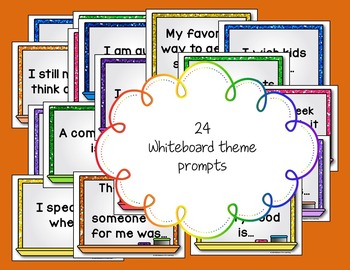 Morning Chat October Prompts Digital Version:Whiteboard and Chalkboard Themed