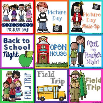 Calendar Cards: School Basics