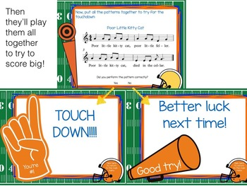 Recorder Football, a Game to Practice BAGE patterns and songs