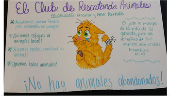 """Trabajo de voluntario"" Group Poster Activity"