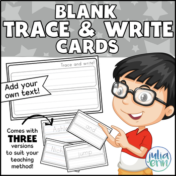 """""""Trace and Write"""" Blank cards"""