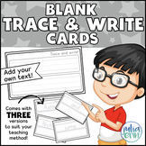"""Trace and Write"" Blank cards"