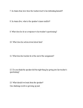 """""""Translating Grandfather's House"""" poem questions"""