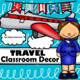 Travel Plane Classroom Decor Pack *Editable