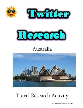 (Travel and Tourism) Australia- Twitter Research Guide