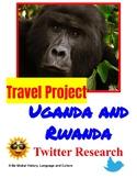 Uganda and Rwanda: Travel and Tourism Twitter Printable or Paperless Guide