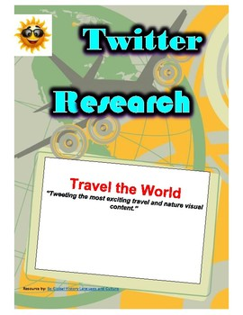 (Travel and Tourism) Travel the World - Twitter Research Guide