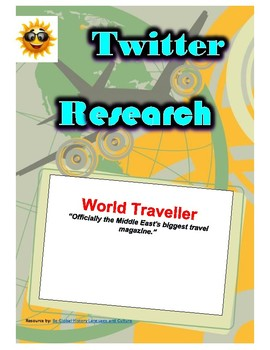 (Travel and Tourism) World Traveller (Middle East) - Twitter Research Guide