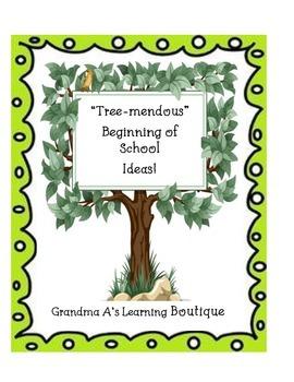 """Tree-mendous"" Beginning of School Ideas"
