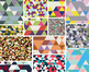 """Trendy Triangles"" Digital Papers & Frames Bundle"