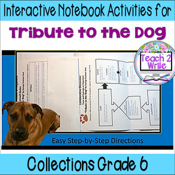 """""""Tribute to the Dog"""" Interactive Notebook ELA HMH Collections Grade 6"""