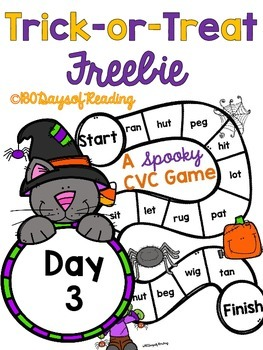 #Trick-or-Treat Freebie Day 3 CVC Board Game