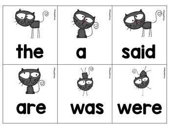 #Trick-or-Treat Freebie Day 4 Sight Word Memory Game