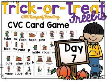 #Trick-or-Treat Freebie Day 7 CVCe Game