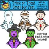 """Trick or Treat, Smell My Feet"" Halloween Friends Clip Art"