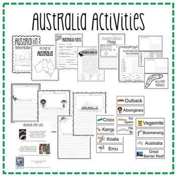 """Trip to Australia"" Power Point & Activities Pack!"