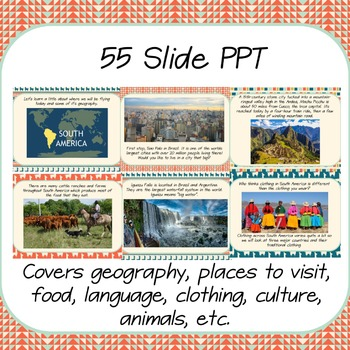 """""""Trip to South America"""" Power Point & Activities Pack!"""