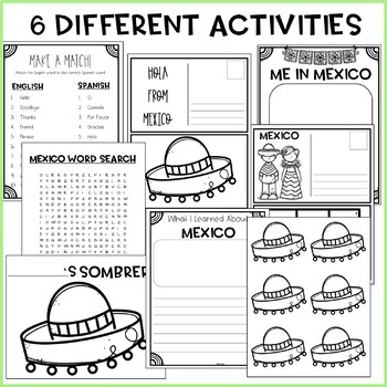 """Trip to Mexico"" Power Point & Activities Pack - Cinco De Mayo Activities"