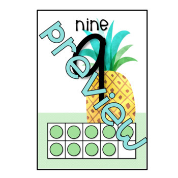 *Tropical Themed* 0-20 number flashcards