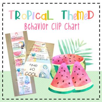 *Tropical Themed* Behavior / Behaviour Clip Chart