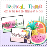 *Tropical Themed* Days of the Week and Months of the Year Posters