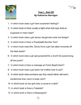 """""""True (…Sort Of)"""" By Katherine Hannigan, Battle of the Books Questions"""