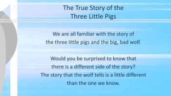 """""""True Story of 3 Little Pigs"""" Conflict Resolution Lesson 2 videos Point of View"""
