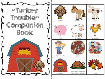 """Turkey Trouble"" Companion Pack: A Story Retelling Guide"