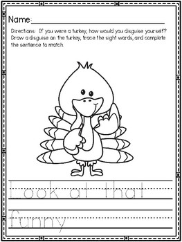 """""""Turkey in Disguise"""" (A Thanksgiving Emergent Reader and Activity Dollar Deal)"""