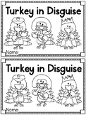 """""""Turkey in Disguise"""" (A Thanksgiving Emergent Reader and A"""