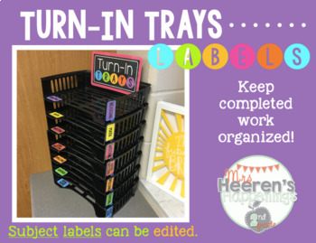 """""""Turn-In Trays"""" Labels"""