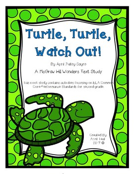 """Turtle, Turtle, Watch Out!"" Book Study Pack"