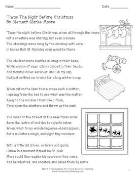 Night before christmas book pdf