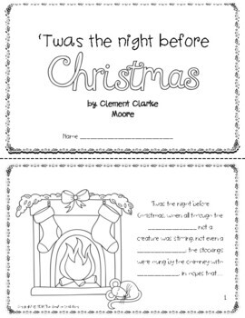 'Twas the Night Before Christmas Booklet!