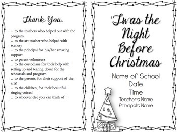 'Twas the Night Before Christmas Musical Program