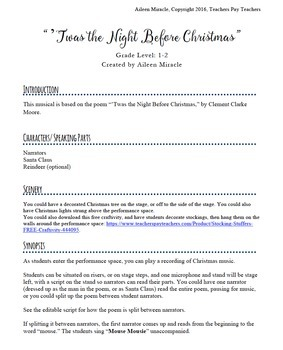 'Twas the Night Before Christmas Musical Program