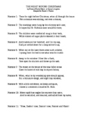 'Twas the Night Before Christmas Reader's Theater Script