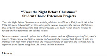 """'Twas the Night Before Christmas"" Research Extension Projects"
